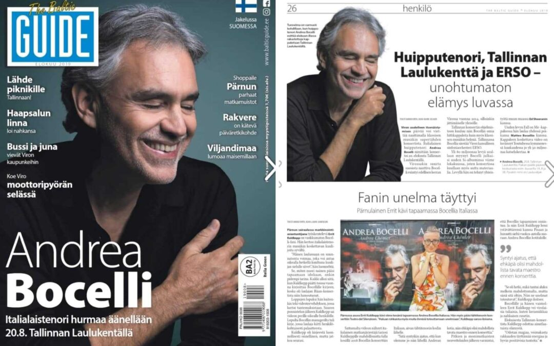 The Baltic Guide: Fan´s dream came true…Errit from Pärnu visited Bocelli in Italy